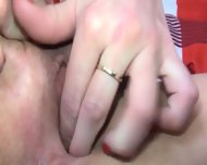 Sexy Blonde Fisting Her Hole - scene 3