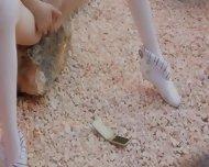 Petite Skinny Doll Tease - scene 3