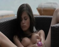 The Sexiest Hungarian Babe Dildoing Snatch - scene 11