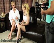 Blonde Masseuse Sprayed - scene 3