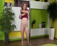 Sweet Blonde Making Public Strip - scene 3