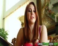 Blowing Redhead Facial - scene 1
