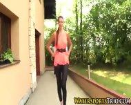 Outdoor Glamor Lesbo Piss - scene 1