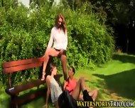 Outdoor Glamor Lesbo Piss - scene 9