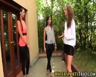 Outdoor Glamor Lesbo Piss - scene 2