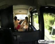 Two Big Boobs Whores Enjoyed Each Pussies In The Cab - scene 12