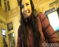 Perky Tits Eurobabe Screwed Up In Public For A Chuk Of Money - scene 1