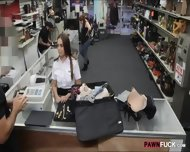 Sexy Latina Stewardess Selling Her Stuff And Fucked For Cash - scene 2