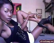 Ebony Babe Smoking In Heels - scene 9