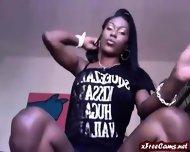 Ebony Babe Smoking In Heels - scene 4