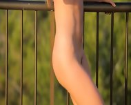 Killer Ass Masturbate On The Balcony - scene 9