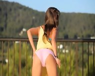 Killer Ass Masturbate On The Balcony - scene 4
