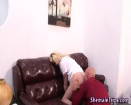 Blonde Tgirl Ass Rimmed - scene 12