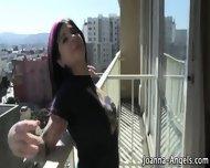 Goth Fingers On Balcony - scene 2