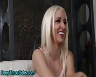 Facialized Blond Throater - scene 2