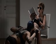 Tatto Lezzies Enjoying Penetrating With Strap On - scene 3