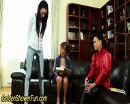 Lesbians Golden Shower - scene 3