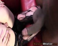 Stocking Feet Get Cumshot - scene 8