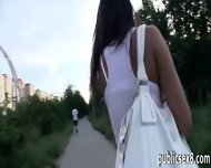 Amateur Tight Girl Fucked In The Woods In Exchange For Cash - scene 1