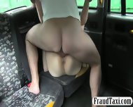 Short Haired Customer Analyzed With Fake Driver For Free - scene 5