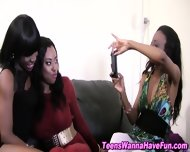 Amateur Ebony Drinking - scene 11