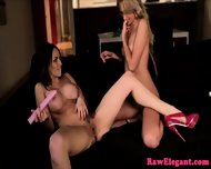 Stunning Analplay Lesbians From Europe - scene 12