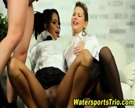 Watersports Threesome Sex - scene 9