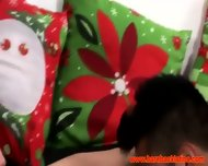 Gay Latino Gets A Naughty Present During Christmas Time - scene 1