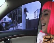 Cosplayer Natalie Sucks Like A Pro Inside The Car While Dude Was Driving - scene 3