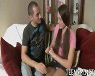 Shy Teen Deepthroats Big Cock - scene 3