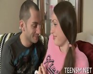 Shy Teen Deepthroats Big Cock - scene 4