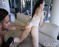 Juicy Hottie Licks Balls Of Her Partner - scene 7