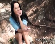 Two Amateur Babes Foursome Party Outdoor At Camping - scene 2