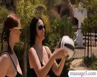 Volleyball Lesson And Sensual Massage Turns Into Lesbian Sex - scene 1