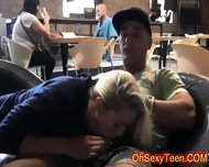 Wild Young Blonde Fucked In Public - scene 4