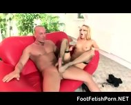 High Heels Blonde Footjob Pro Carina - scene 6