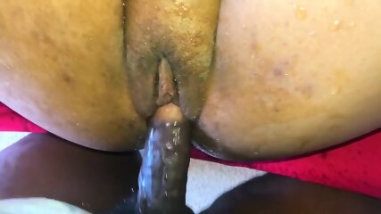 Fat Black Pussy Squirts All Over BBC! - EbonyFuckFinder.com