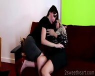 2 Superb Lesbian Milf Kiss Each Other And Get Nasty At The Office - scene 12