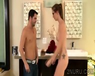 Tattooed Masseuse Has A Hunky Client To Please With Her Body - scene 9