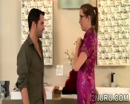 Tattooed Masseuse Has A Hunky Client To Please With Her Body - scene 6