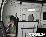 Geeky 3d Cartoon Brunette In Glasses Toying Her Pussy - scene 4