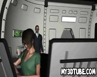 Geeky 3d Cartoon Brunette In Glasses Toying Her Pussy - scene 5