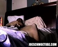 Ebony Hunk Tugging On His Cock Until He Cums Hard - scene 1