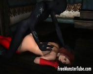 3d Redhead Sucks Cock And Gets Fucked By A Monster - scene 7