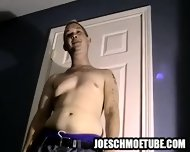 Amateur Stud Gets Naked And Tugs On His Cock - scene 3