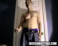 Amateur Stud Gets Naked And Tugs On His Cock - scene 5