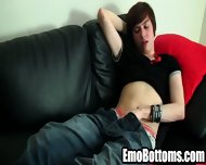 Emo Twink Jack Styles Tugging On His Hard Cock - scene 1
