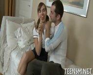 Juicy Teen Enjoys Rear Screwing - scene 1