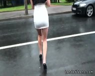 Amateur Teen Giving Footjob In The Car Before Anal Sex - scene 4