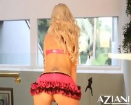 Brooke Haven Strips Off Her Lingerie And Rides The Sybian Until She Cums - scene 6